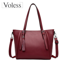 Large Capacity Women Handbag Leather Casual Female Vintage Handbags Luxury Shopping Handbags Tote Bag Lady Quality Shoulder Bag women tote bag lady casual waterproof hobo handbags female nylon fold up shoulder bags large capacity mummy shopping bag bolsas