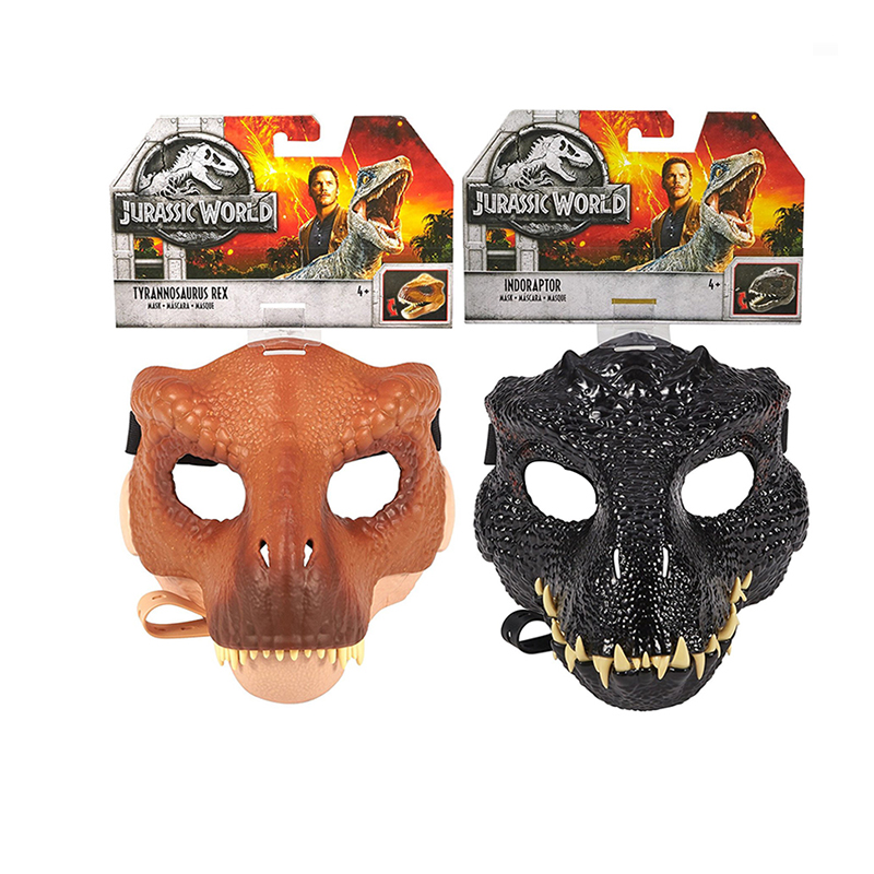 Original Jurassic World Dinosaur Realistic Mask Toy Halloween Cosplay Party Props Costumes Adults Toys For Boy Anime Figure