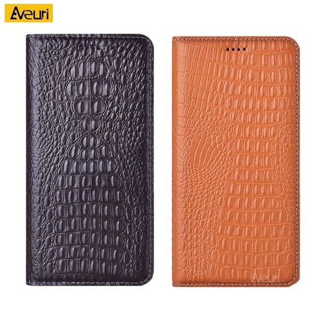 Funda de piel auténtica de cocodrilo para funda de teléfono para Xiaomi, funda de negocios para Xiaomi Max 2 3 Pro Mix 2 2S 3