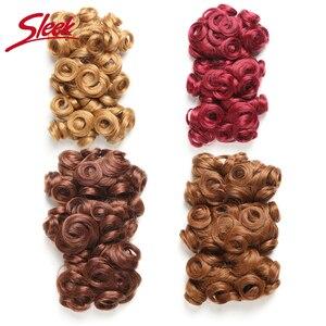3 шт./партия, гладкие бразильские вьющиеся человеческие волосы Remy с двойным нарисованным сортом блонд, 27 #30 #33 # красный край # пряди, человечес...