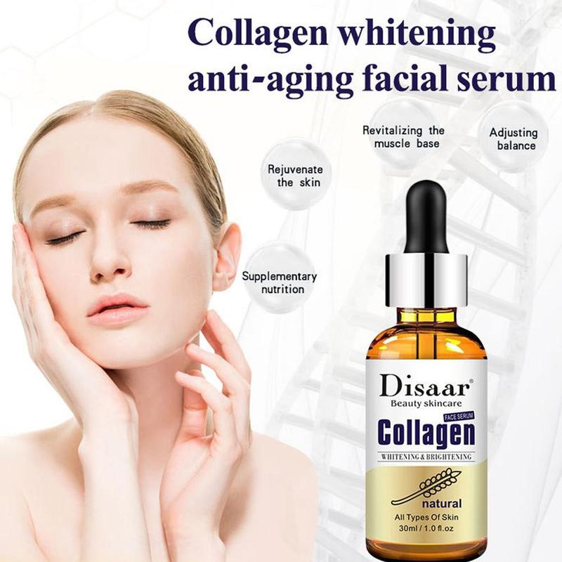 Natural Collagen Beauty Facial Anti Wrinkle Serum Collagen Serum Anti Aging Whitening Face Serum Stock Serum