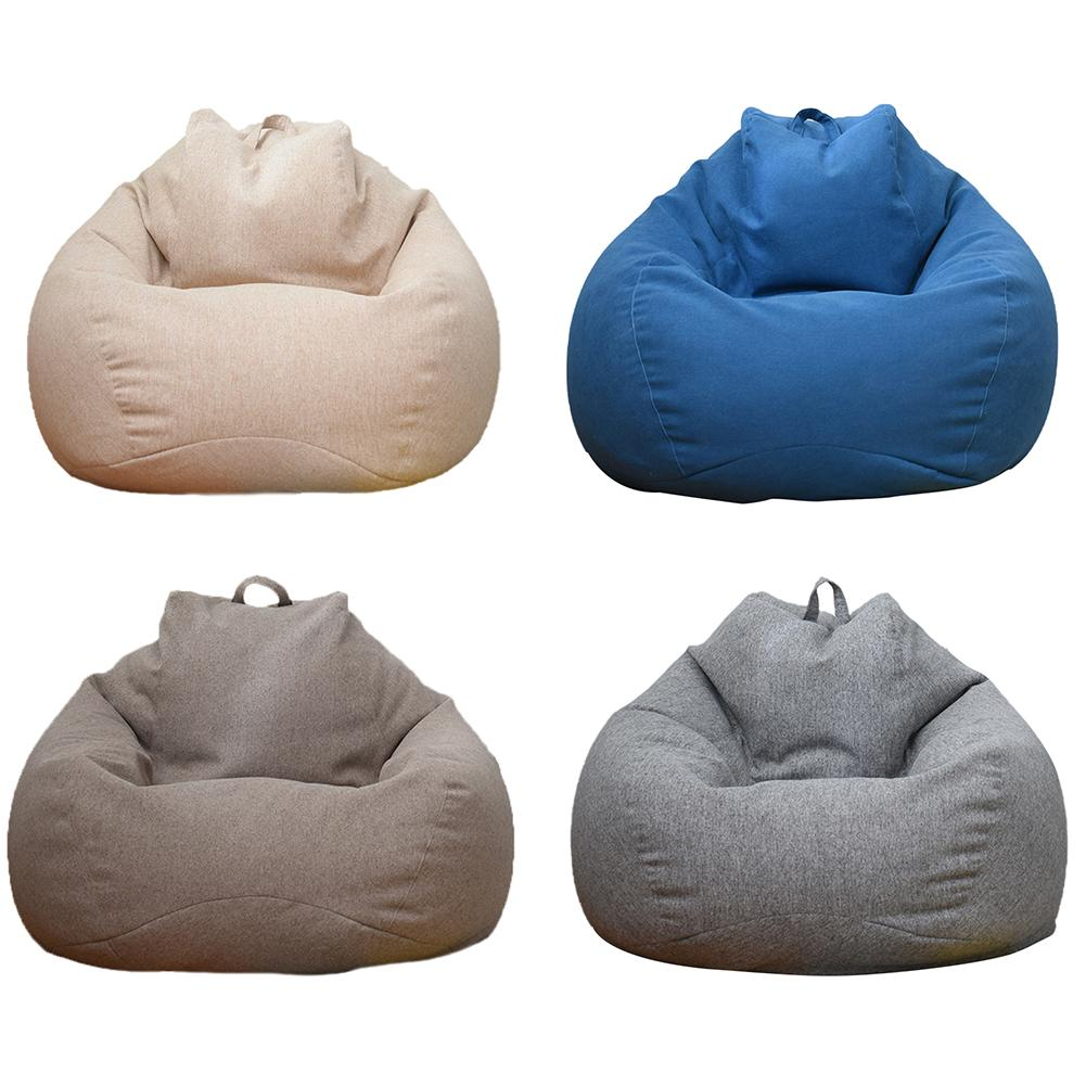 Lazy Sofa Cover Bean Bag Lounger Chair Sofa Seat Living Room Furniture Without Filler Beanbag Sofa Bed Pouf Puff Couch Tatami image