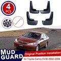 Для Toyota Camry XV30 XV 30 2002 ~ 2006 Брызговики с эффектом углеродного волокна Брызговики автомобильные аксессуары 2004 2005