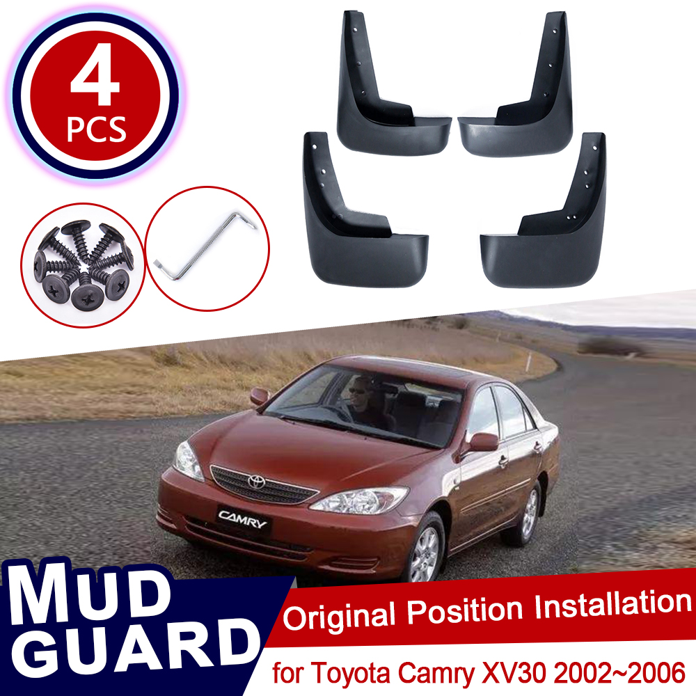 For Toyota Camry XV30 XV 30 2002~2006 Mud Flaps Splash Guards Mudguards Carbon Fiber Effect Mudflaps Car Accessories 2004 2005