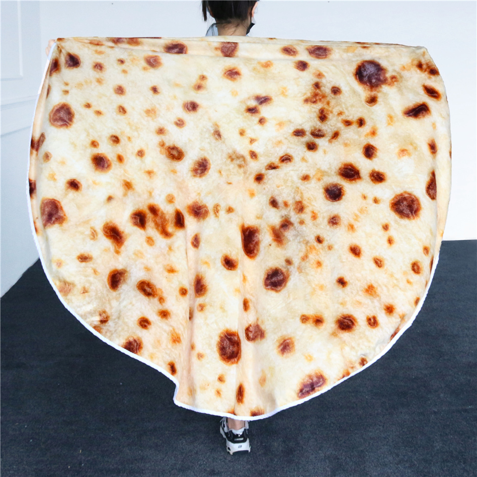 BeddingOutlet Corn Tortilla Blanket Pita Lavash Food Flannel Blanket for Bed Christmas Gift Fleece Throw Funny Plush Bedspread image