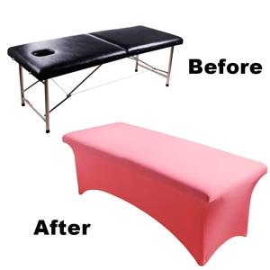 Image 5 - Enten Lash Bed Cover Speciale Wimper Wimpers Tafel Bed Voorblad Rechthoekige Spandex Tight Fit Cosmetische Salon Make Up TooL