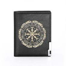 Classic Vintage Viking Symbol Printing Pu Leather wallet Men