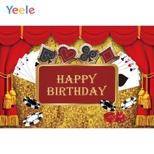 Yeele Casino Party Background Poker Las Vegas Birthday Backdrop Night Photography Decorations Props