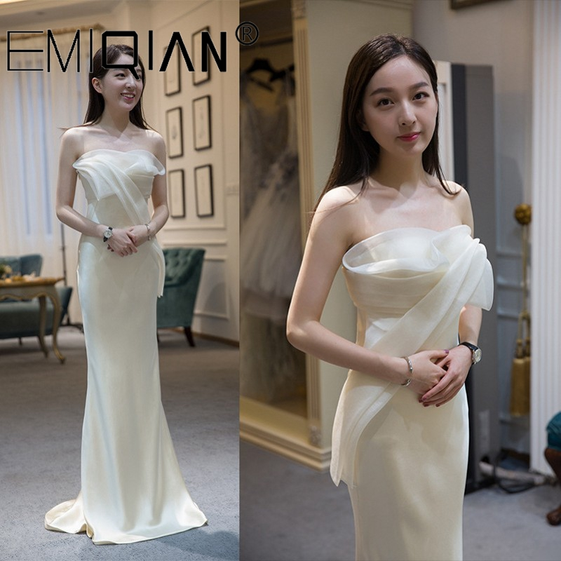 Simple Strapless Mermaid Evening Dresses 2020 NEW Party Occasion Formal Long Prom Dress