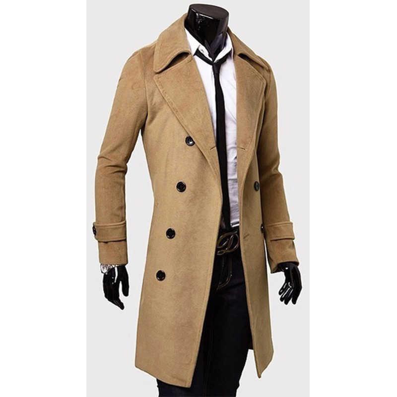 ZOGAA 2019 Herbst Männer Lange Windjacke Mode Britischen Stil Graben Mantel Slim Fit Mantel Jacke Wind Mäntel Oberbekleidung Männlichen Mantel