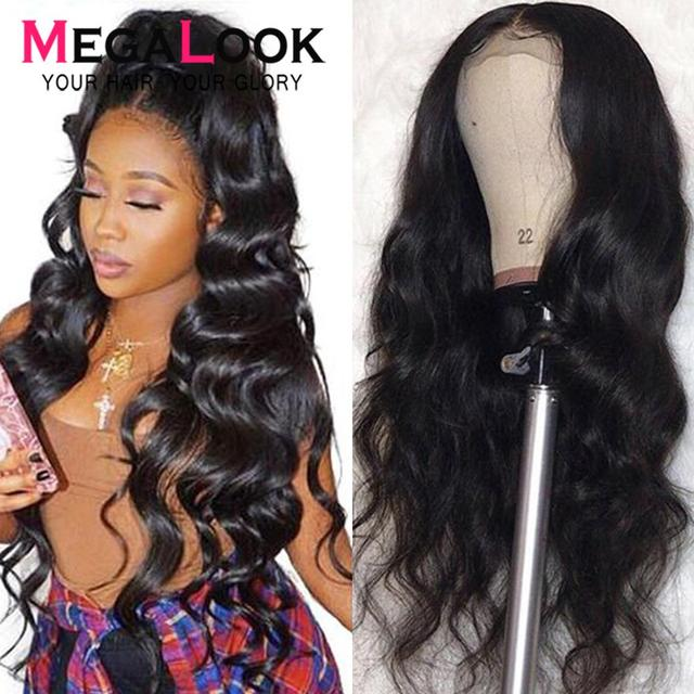 4x4 6x6 Closure Wigs Lace Closure Wig Remy Natural 30inch Megalook Hair Brazilian Human Hair Wigs Lace Closure Wig Body Wave Wig 1
