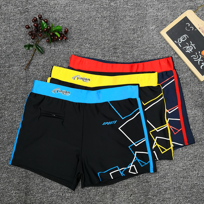 Boxer With Comfortable Swimming Trunks Pocket Loose-Fit Beach Men Quick-Dry Low-Rise Fashion-Hot Springs Adult Profession Tour M
