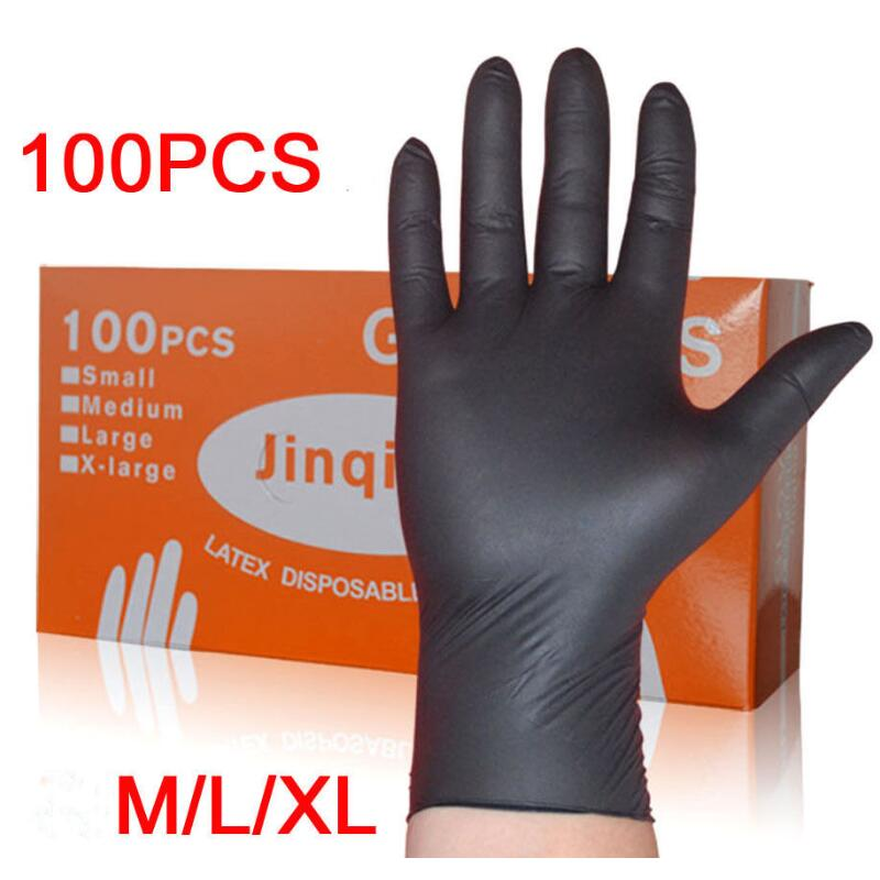 100/50PCS Disposable Silicone Gloves Rubber Gloves Household Latex Gloves Disposable Food Gloves Left And Right Universal Cleani