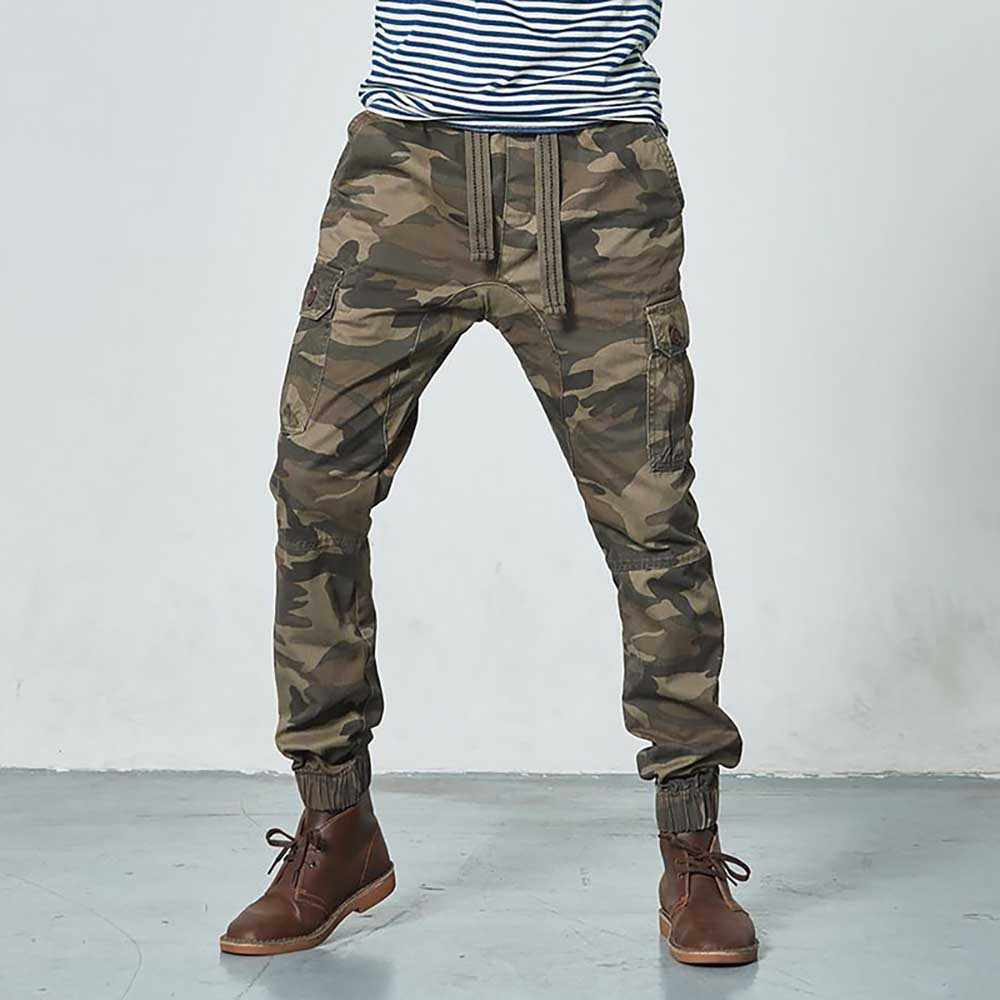 Camuflaje Joggers Hombre Militar Estilo Militar Pantalones De Algodon Pantalones Cargo Densidad Hombres Ropa Pantalones Informales Aliexpress