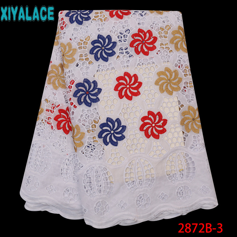Hot Selling Cotton African Lace Fabric,High Quality Lace Swiss Voile Lace In Switzerland,Guipure Cord Lace Hollow Out KS2872B-3