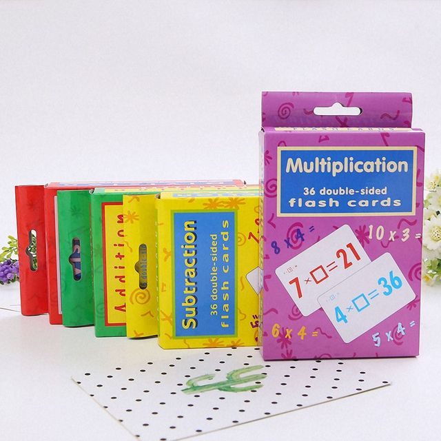 36Pcs Baby Learning Cards Mathematics Flash Card Addition Subtraction Multiplication Division Arithmetic Toy Kindergarten Game