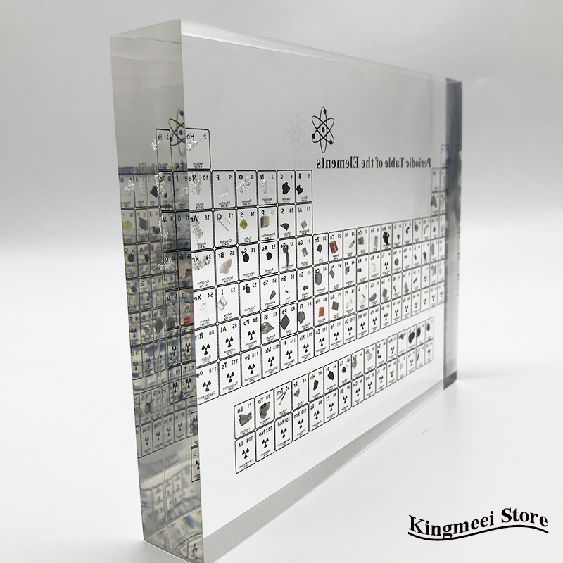 Large Stock Acrylic  Periodic Table  Chemical Periodic Table Acrylic Crystal Physical Periodic Table Gifts  Real Elements inside 6