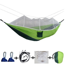 חיצוני כילה מצנח ערסל 1-2 אדם קמפינג תליית שינה מיטת נדנדה נייד כפול כיסא Hamac צבא ירוק