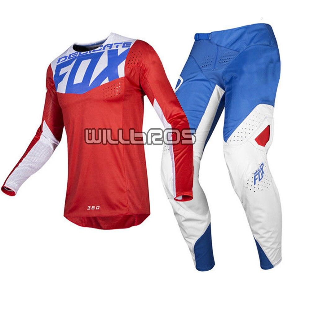Offre spéciale! délicat renard bleu blanc rouge Motocross ATV vélo équitation Kit de moto