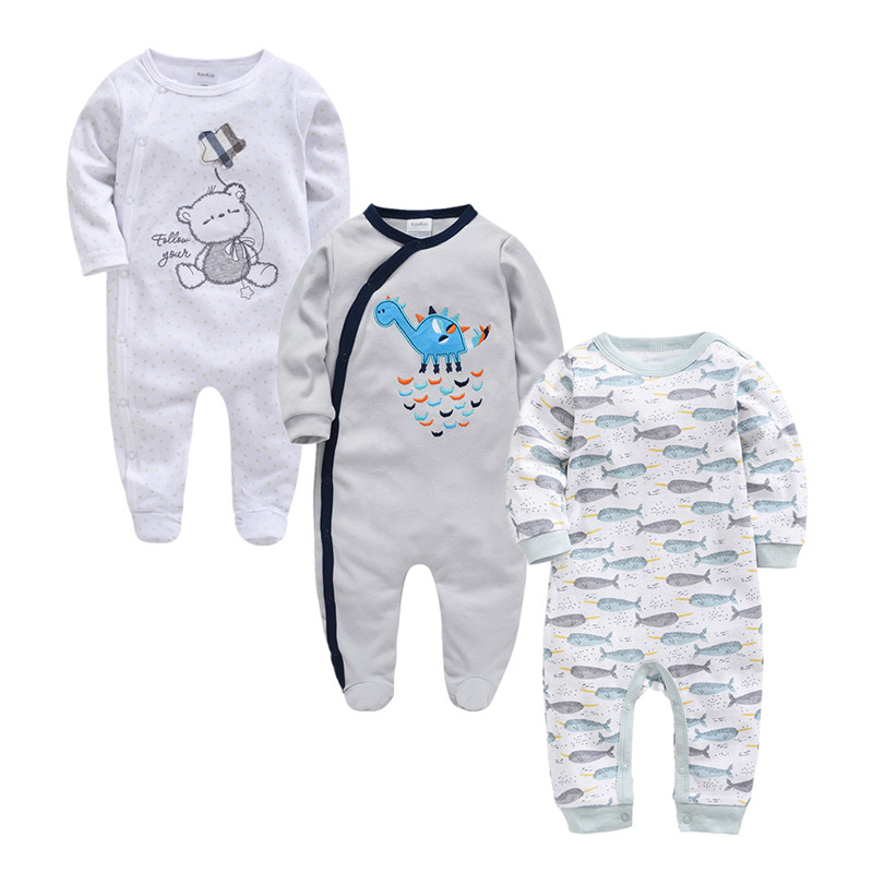 Image 4 - 2019 Autumn Winter 3pcs Baby Boy roupa de bebes Newborn Jumpsuit Long Sleeve Cotton Pajamas 3 6 9 12 Months Rompers Baby Clothes-in Rompers from Mother & Kids