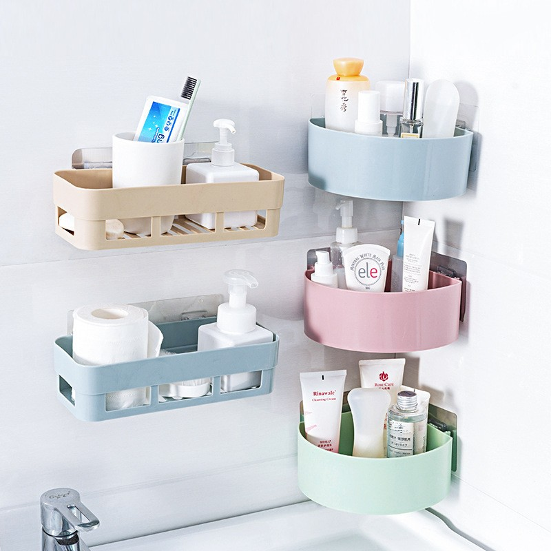 Bathroom Kitchen Organizer Shelves Wall