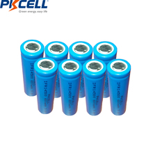 8PCS PKCELL IFR 14500 Battery 3.2v 600mah liFepo4 Batteries 14X50 AA Rechargeable Battery for Solar Panel Light ,Tooth Brush