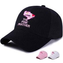 Women Unisex Visors Hat Casual Sport pink panther cap Snapback Cap