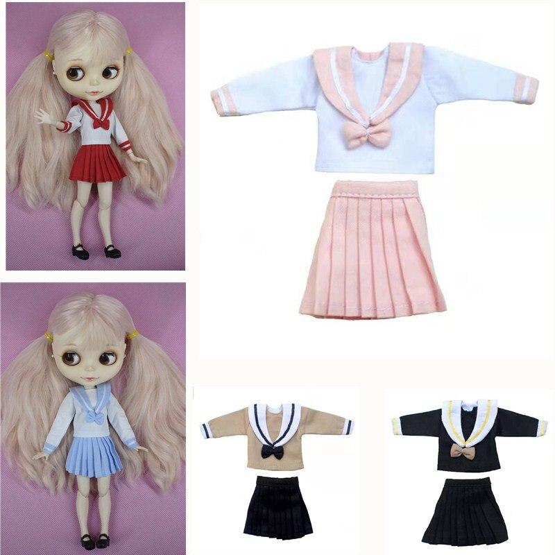 2 шт./компл., кукла Blyth, одежда, костюм моряка, набор для кукол Blyth,Licca,Azone,Kurhn, 30 см, 1/6, аксессуары для куклы «сделай сам»