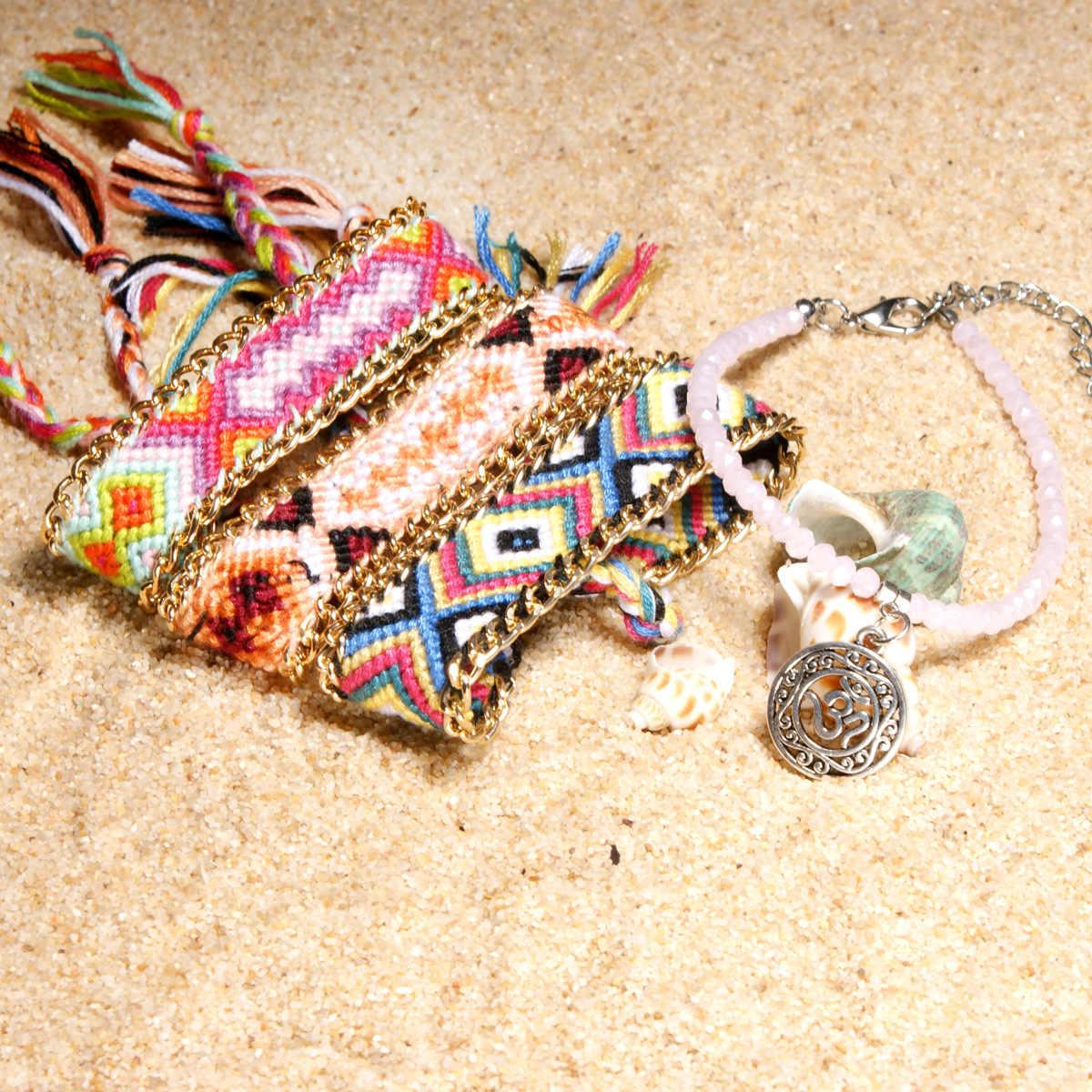 Богемные пляжные ножки дамы очаровательный ножной браслет хрустальные бусины ножной браслет, сделанный своими руками браслет женские ювелирные изделия