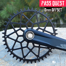 Pass quest redondo estreito largo chainring pedaleira mtb mountain bike roda de corrente engrenagem da bicicleta offset 0mm 30-44 t M7100-9100