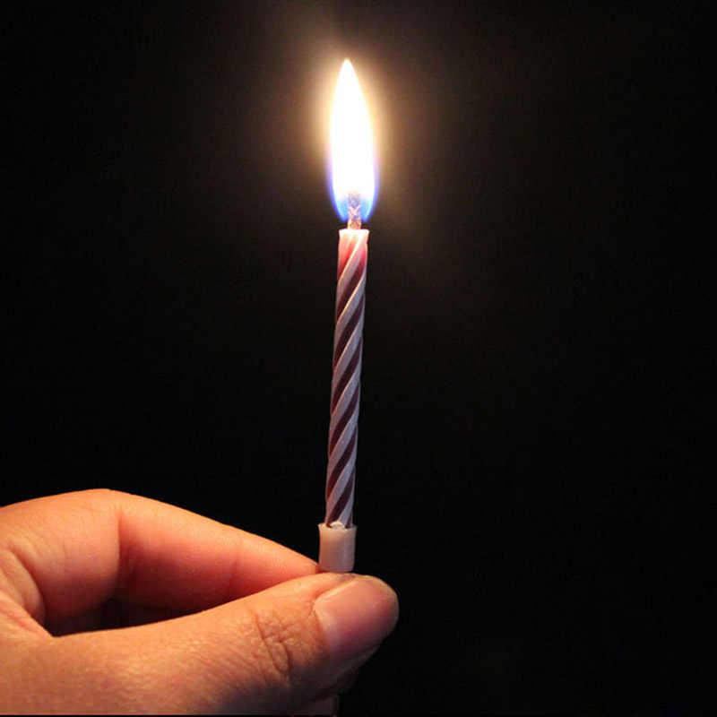10 Cái Bất Khả Chiến Bại Nhiều Màu Sắc Nến Sinh Nhật Tặng Magic Relighting Trò Đùa Sinh Nhật Phong Cách Mới Nến Cho Vành Khăn