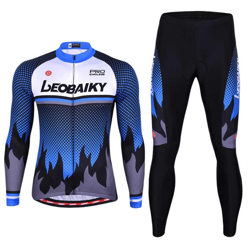 2020 marka Pro Team kolarstwo zestaw koszulek mężczyźni jesień z długim rękawem ubrania do jazdy rowerem wyściełane Mountain odzież rowerowa Mtb Cycle Accessoire