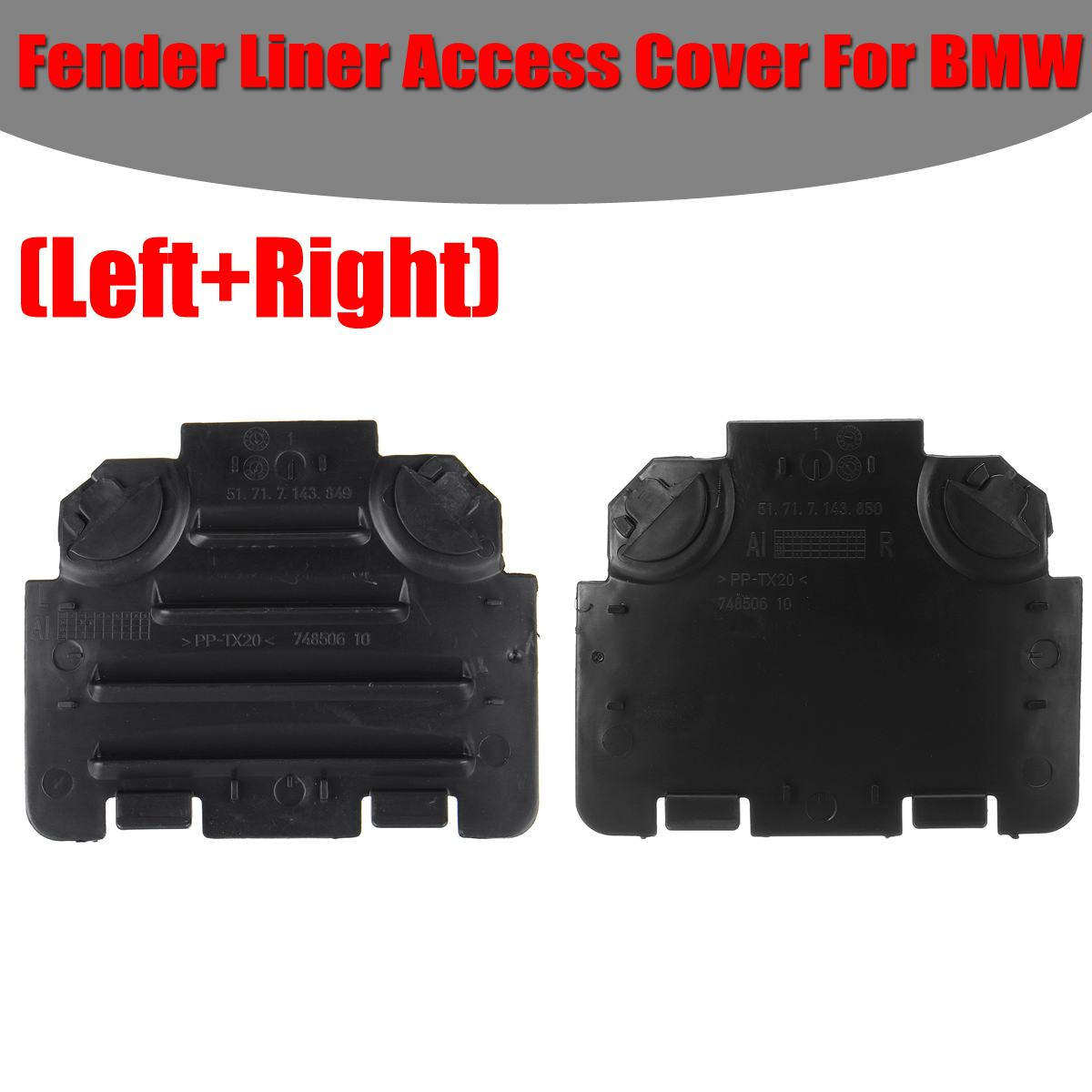 Left/Right Car Front For Fender Liner Access Cover Trim For <font><b>BMW</b></font> <font><b>E82</b></font> E88 E90 E91 <font><b>135i</b></font> 325i 51717143849 51717143850 image
