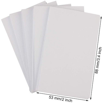 Business Card Paper 500-Count Index Cards Paper Blank Playing Paper Cards Name Cards Paper (White) 1