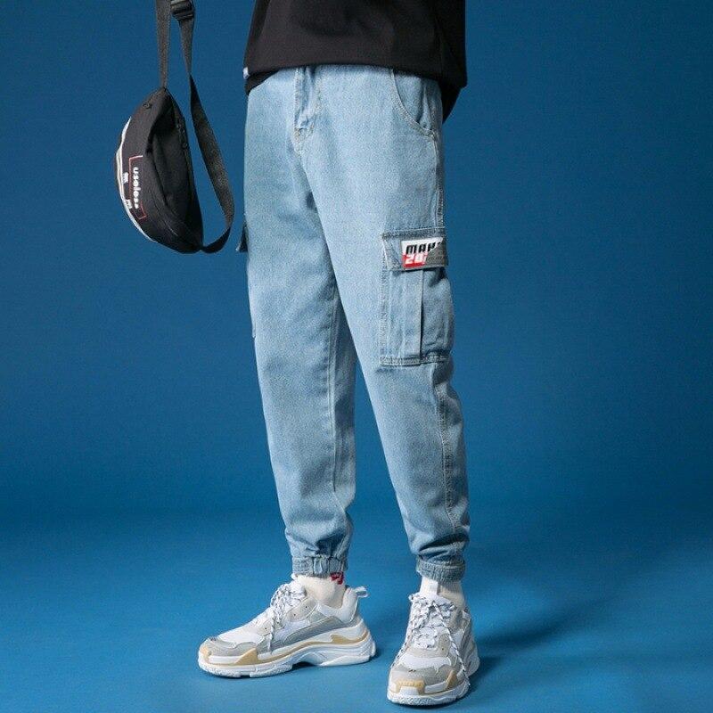 Men Popular Brand Workwear Jeans Loose Straight Dad Pants Retro Hong Kong Flavor Drape Loose Pants MEN'S Trousers