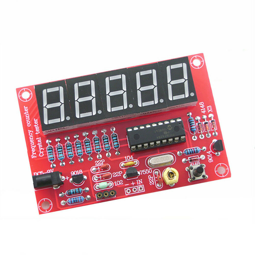 1Hz-50MHz Module Board Frequency Meter Kit DIY Crystal Measure For Oscillator Easy Install Automatic Conversion Self Assemble