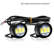 2 Chiếc Xe Máy Hawk Mắt Đèn Ma Lửa Đèn Sửa Đổi Đèn Bàn Đạp Gương LED Đèn Đội Đầu Ánh Sáng rogue Đèn Chiếu Hậu Gương Đèn