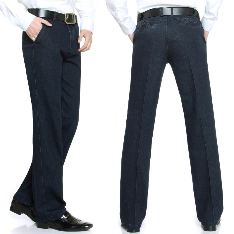 Men Autumn Jeans Men's Straight-Cut Men'S Wear Middle-aged Dad Loose And Plus-sized MEN'S Trousers Autumn And Winter