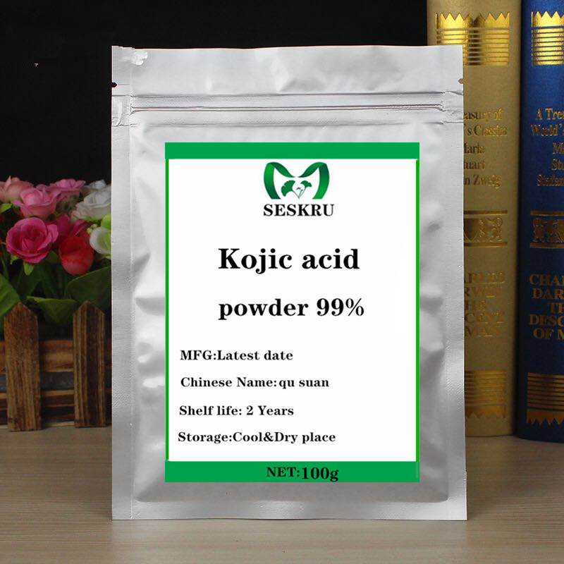 100-1000g High-quality 99% Kojic Acid Powder Is Used To Make Cosmetics For Skin Whitening-freckles, Age Spots, Melanin