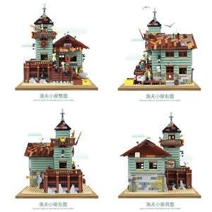 Image 4 - Pomysły stary sklep wędkarski ze światłem zestaw lepinlys budowa domu bloki 21310 cegły edukacyjne zabawki dla dzieci prezent na boże narodzenie