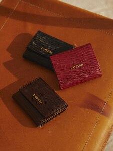 Image 5 - ラfestinトカゲパターン三倍財布短財布女性のコンパクト超薄型ソフトレザー折りたたみコイン財布