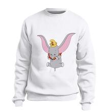 Dumbo Top Women Funny Gray Elephant Camiseta Print Sweatshirt Ladies America Movie Hot Cute Animal Hoodie BTFCL