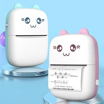 Mini Portable Thermal Printer Photo Pocket Photo Printer Printing Wireless Bluetooth for Android IOS Printers phomemo portable m02 label printer wireless bluetooth thermal sticker pocket mini handheld photo printer android ios printers