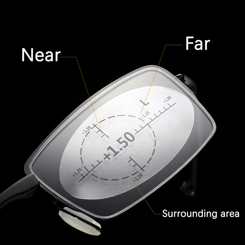 Occhiali presbiti multifocali anello occhiali da lettura progressivi per uomo donna lontano vicino Anti luce blu 360 gradi visione chiara