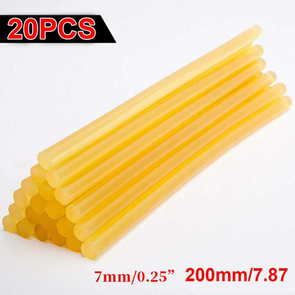 Hot Sale 20pcs Hot Glue Sticks Yellow Paintless Car Dent Repair Kit For Crafts 7*200mm Durable And Practical