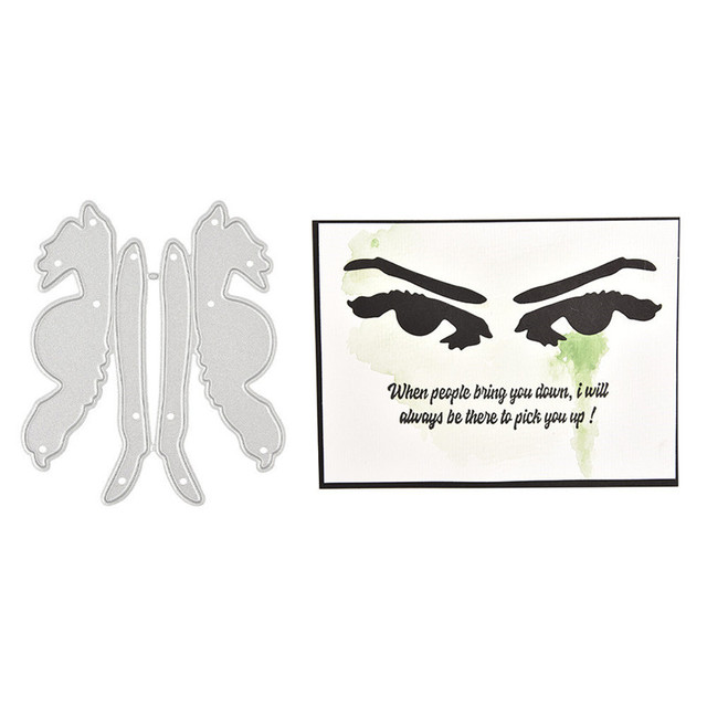 YaMinSanNiO Anger Eyes Metal Cutting Dies Eyebrow for Scrapbooking Stencils DIY Cards Decoration Embossing Die Cuts Template New 4