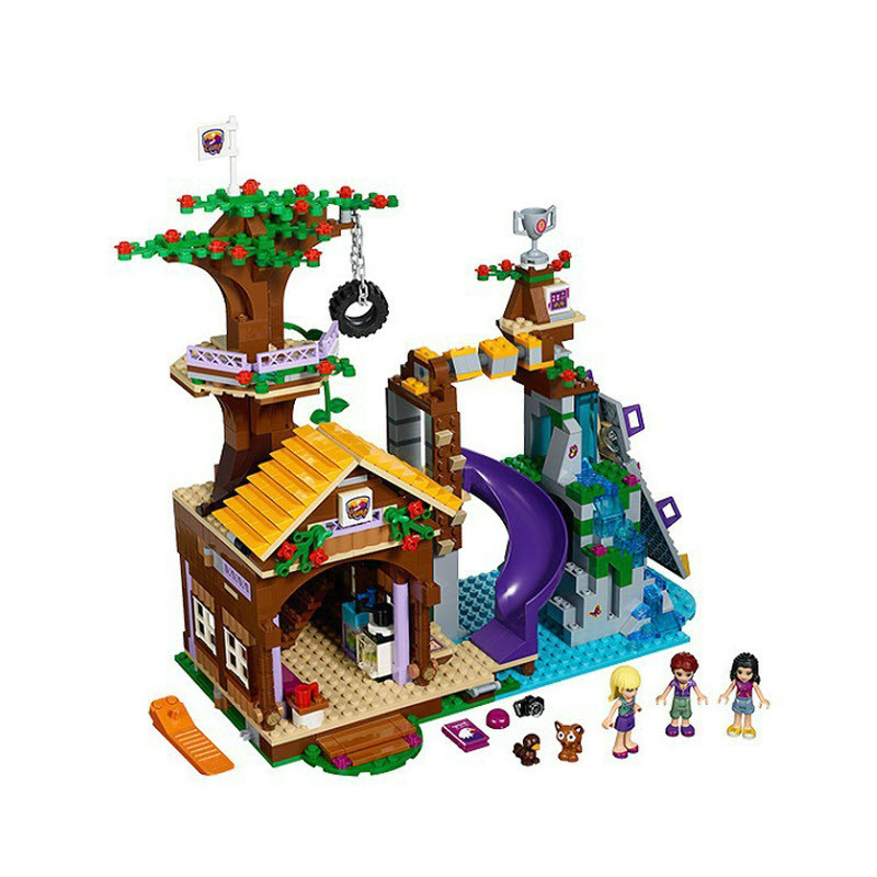 Compatible With lepining Friends Adventure Camp Tree House 41122 Emma Mia Figure Model Building Toy For Children