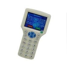 RFID Дубликатор с индикатором Дубликатор IC/ID 10 Частота с USB кабелем английский язык для 125 кГц 13,56 МГц карты ЖК-экран