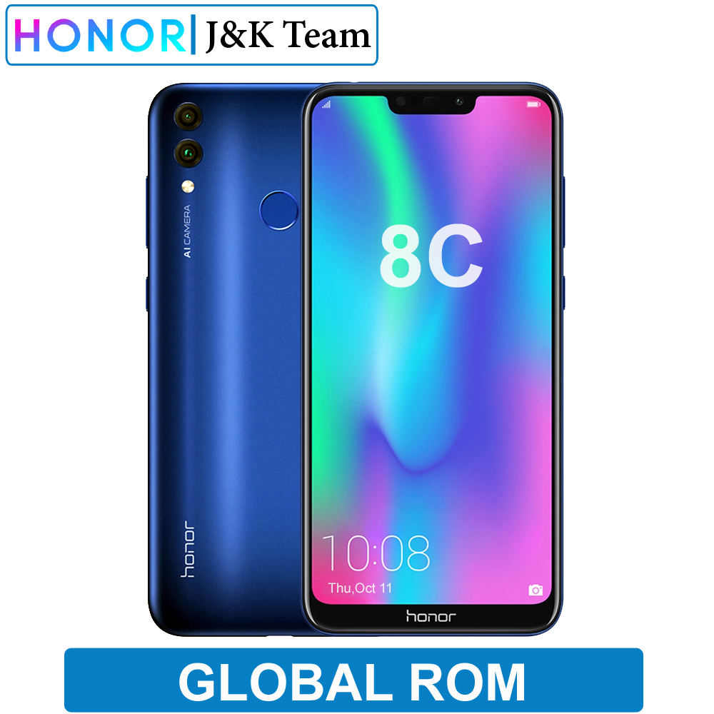 Huawei Honor 8C 4000mAh Battery Smartphone 6.26 inch Snapdragon 632 Octa Core Dual SIM MobilePhone Android 8.2 OTA Update