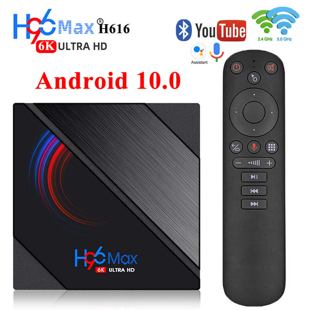 2020 H96 Max Android 10กล่องทีวีAllwinner H616 4GB 32GB 64GB 6K HD 5G wiFi Youtube Media Player 2GB H96MAX Smart Tv Set Top